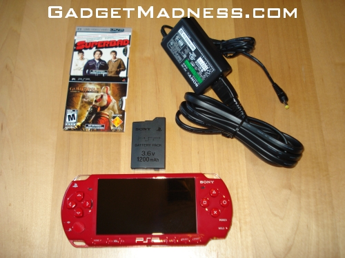 Red PSP 2000   God of War Entertainment Pack Review