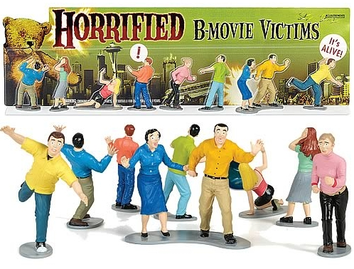 Horrified B Movie Victims Figures Need Army Men To Save Them