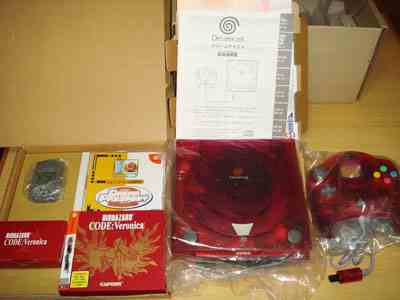 Rare Red Sega Dreamcast Biohazard Code Veronica Edition from Japan