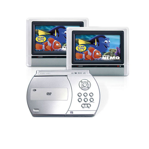 Venturer dual screen portable dvd player