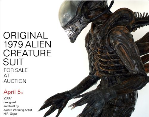 Buy the 1979 Original Alien Suit By H.R. Giger