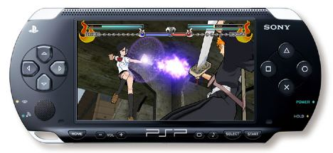 bleach is a cell shaded 3d fighter soon to be released for the psp in