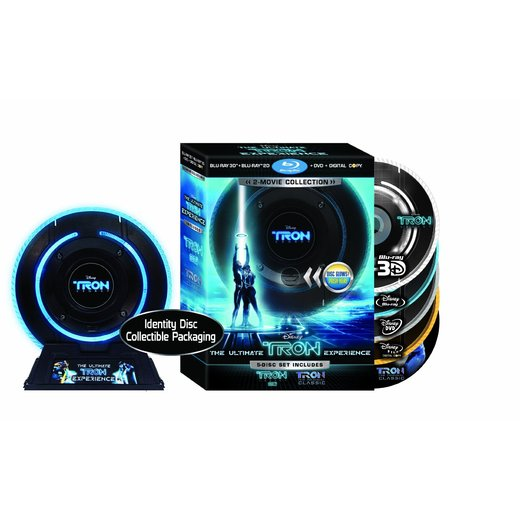 Pre Order Tron: Legacy Limited Edition (Five Disc Combo Blu ray 3D / Blu ray / DVD / Digital Copy + Tron: The Original Classic Special Edition Blu ray)