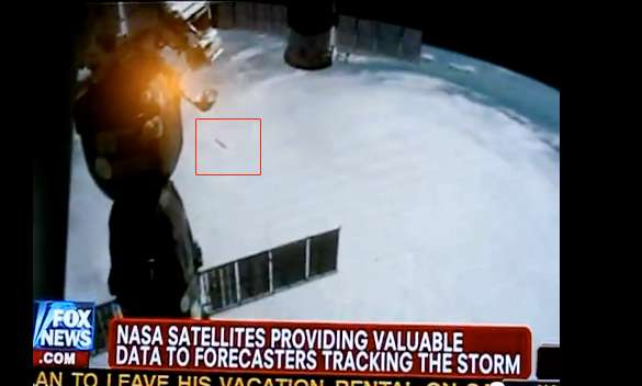 UFO Filmed By ISS Flying Over Hurricane Irene